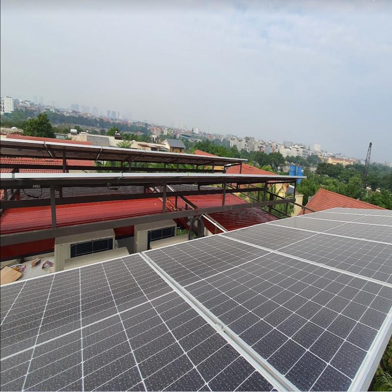 dự án điện mặt trời tại việt hưng long biên hà nội