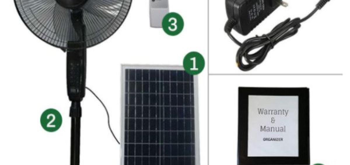 Giá quạt năng lượng mặt trời