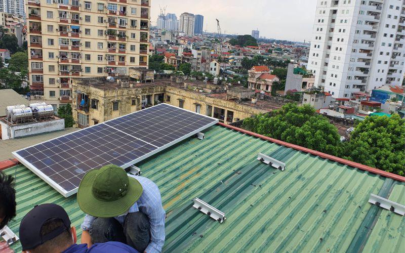 Quy trình lắp đặt điện năng lượng mặt trời