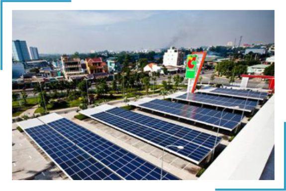 lắp đặt điện mặt trời cho siêu thị cửa hàng trung tâm thương mại
