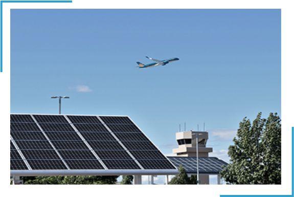 Lắp đặt điện năng lượng mặt trời cho nhà ga sân bay